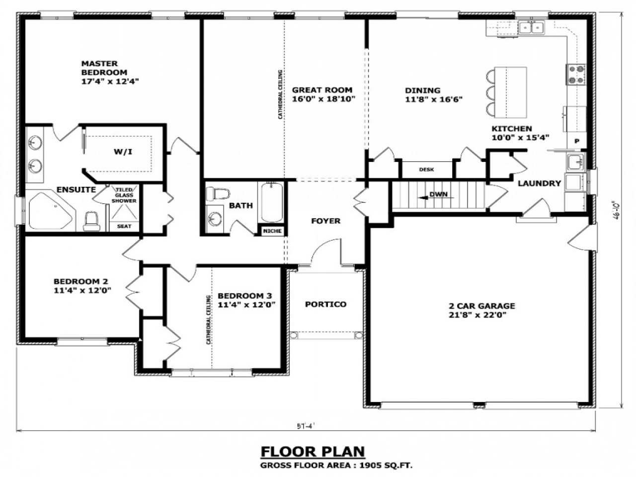2D house plans formal dining room