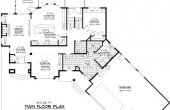2D open floor house plans without formal dining room