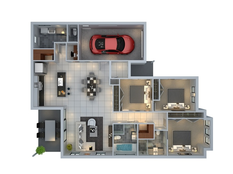 30ft Wide House Plans 3D Pictures