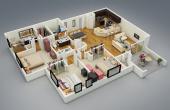 3D 40X60 House Plans pictures