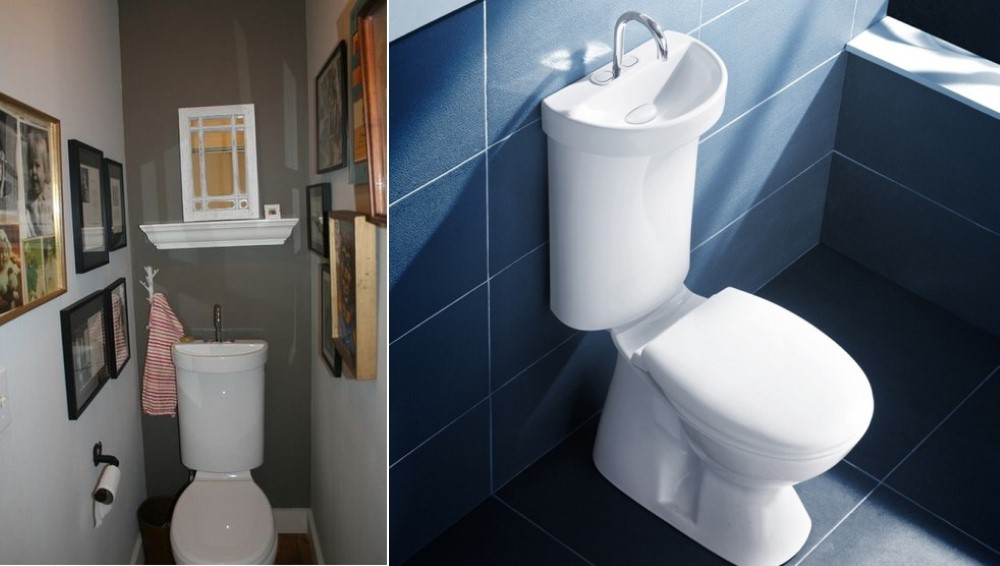 All In One Combination Toilet Sink Vanity Units