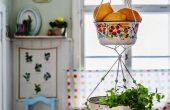 Hanging Vegetable Baskets Kitchen For Fruit and Vegetables Combo