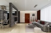 Living Room And Dining Room Partition Design