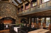 country lake rustic house plans with wrap around porch