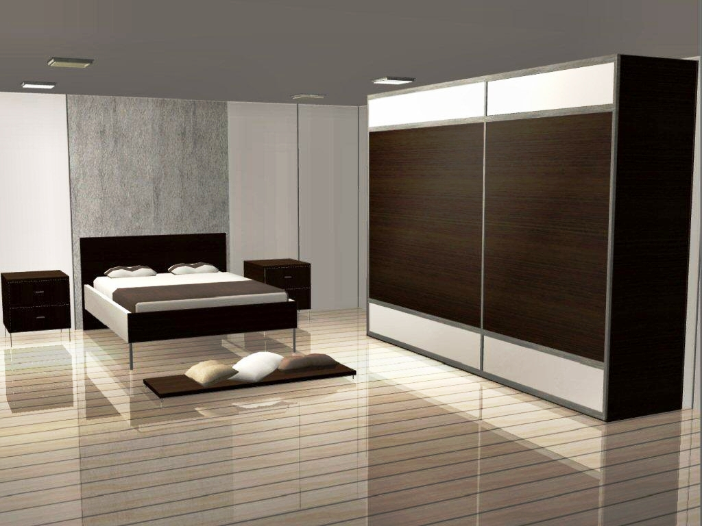 Brown Wooden Sunmica Colors for Bedroom