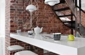 Dining Table bar Area Modern Brick Boundary Wall Designs