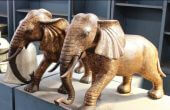 Elephant Statues Facing Door Ideas