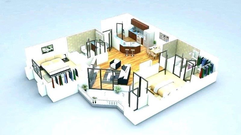 Simple House Plans With 2 Master Bedrooms Downstairs