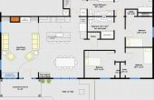 40X60 House Plans Complete with Garage Blue Print