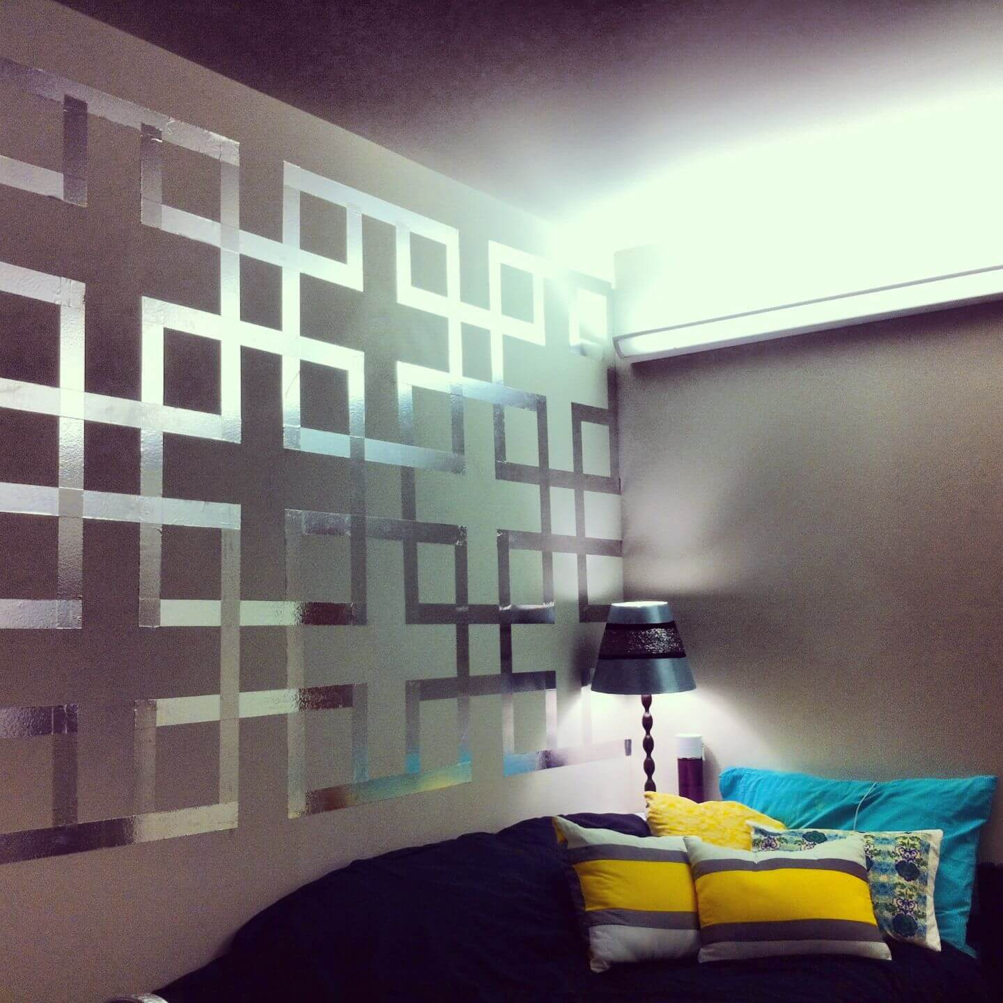 Modern Wall Paint CreativeDesign Using Painters Tape