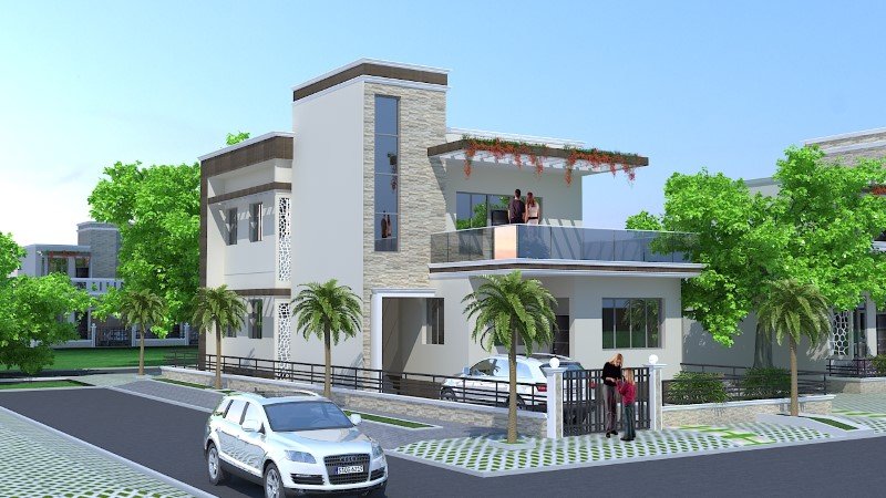 Render 40X60 House Plans Complete with Garage