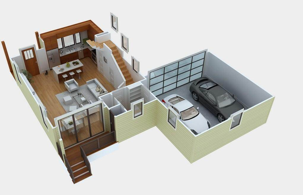 2021 Style 800 Sq Ft House Plans with Car Parking