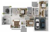 3D images 800 Sq Ft House Plans with Car Parking