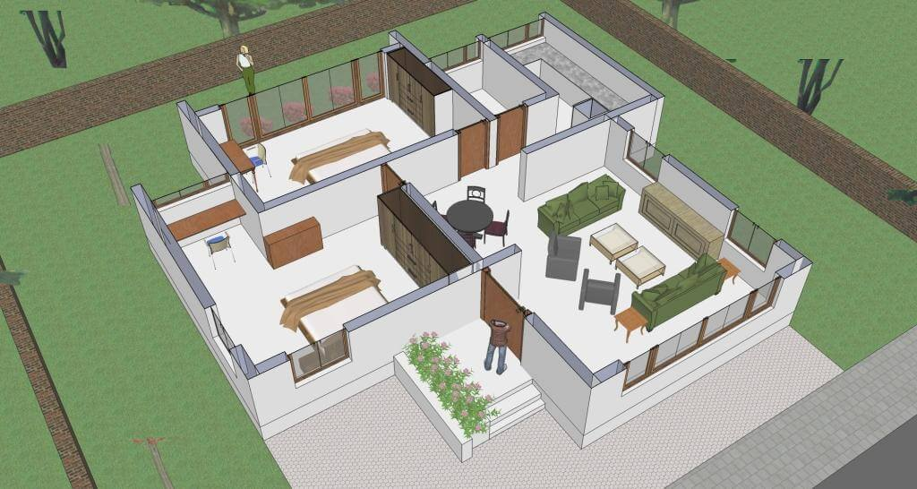 Fashionable 800 Sq Ft House Plans with Car Parking