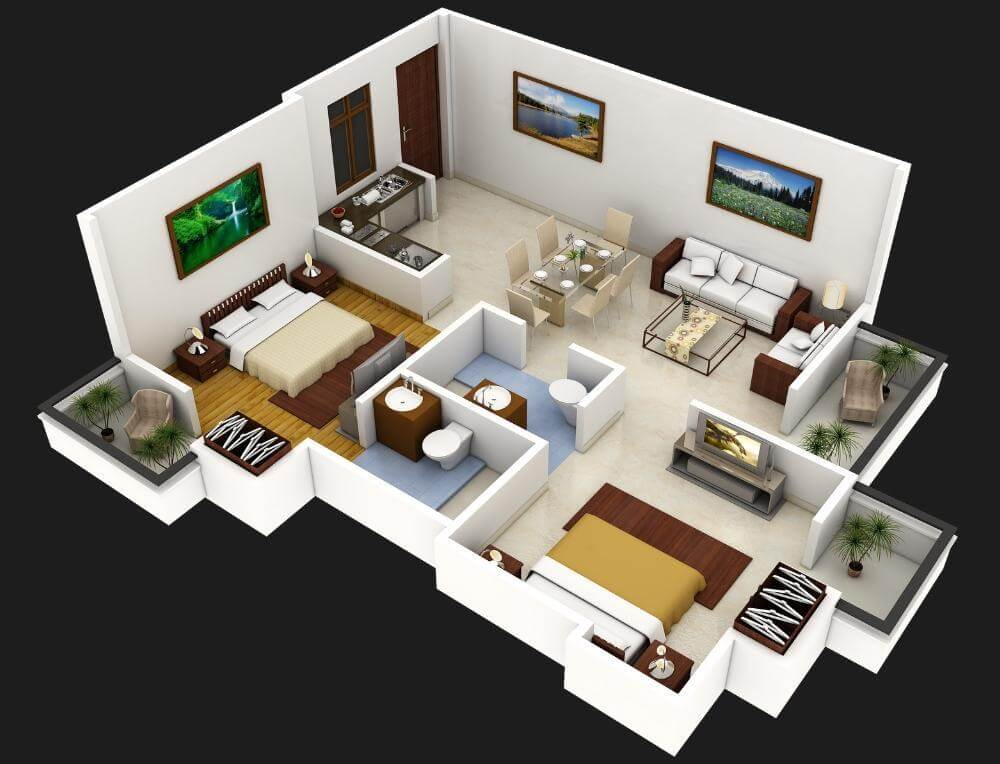 Free 800 Sq Ft House Plans with Car Parking