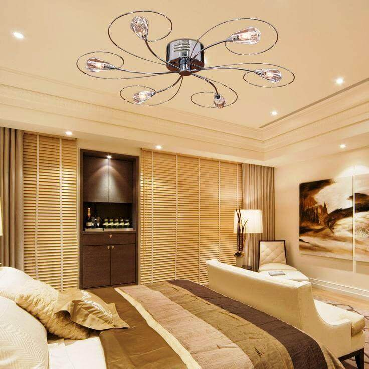 Chandelier With Ceiling Fan Attached For Bedroom