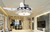 TV Room Chandelier With Ceiling Fan Attached
