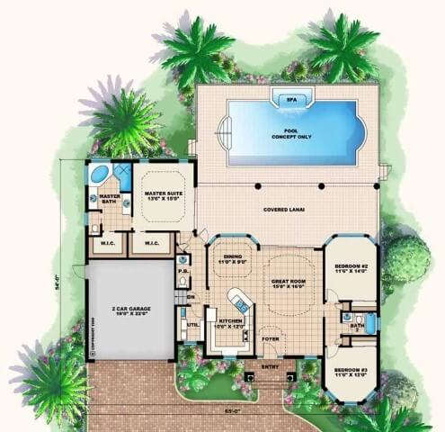 1500 Sq Ft House Plans With Swimming Pool Images