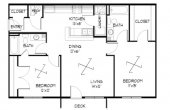 2 bedroom house designs 3d