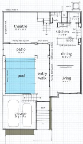 Blueprint 1500 Sq Ft House Plans With Swimming Pool