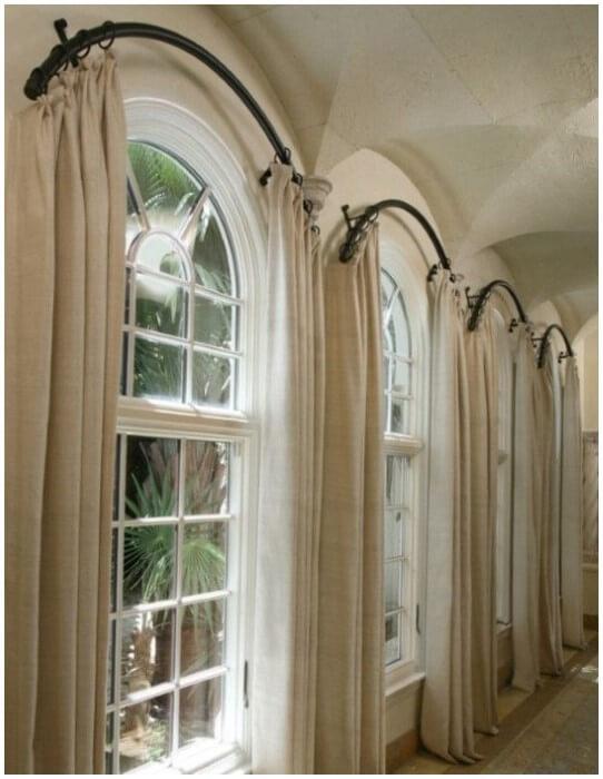 Curtain Ideas For Curved Windows