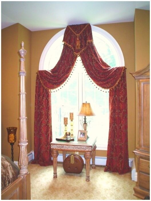 How To Cover Arched Shaped Windows